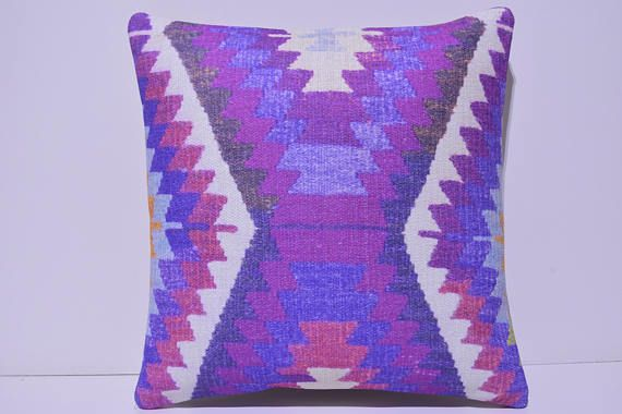 kilim pillow blue pillow case novelty decorative pillow