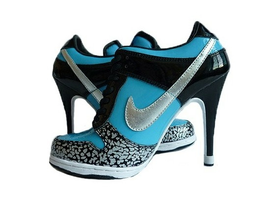 decor home-decor.Fashion, Style, Nike Dunks, Blue, Highheels, Nike Shoes, High Heels, Nike Heels, Tennis Shoes