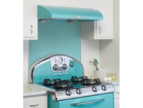 {Elmira Stove Works' backsplash} I'd like the entire stove, please!