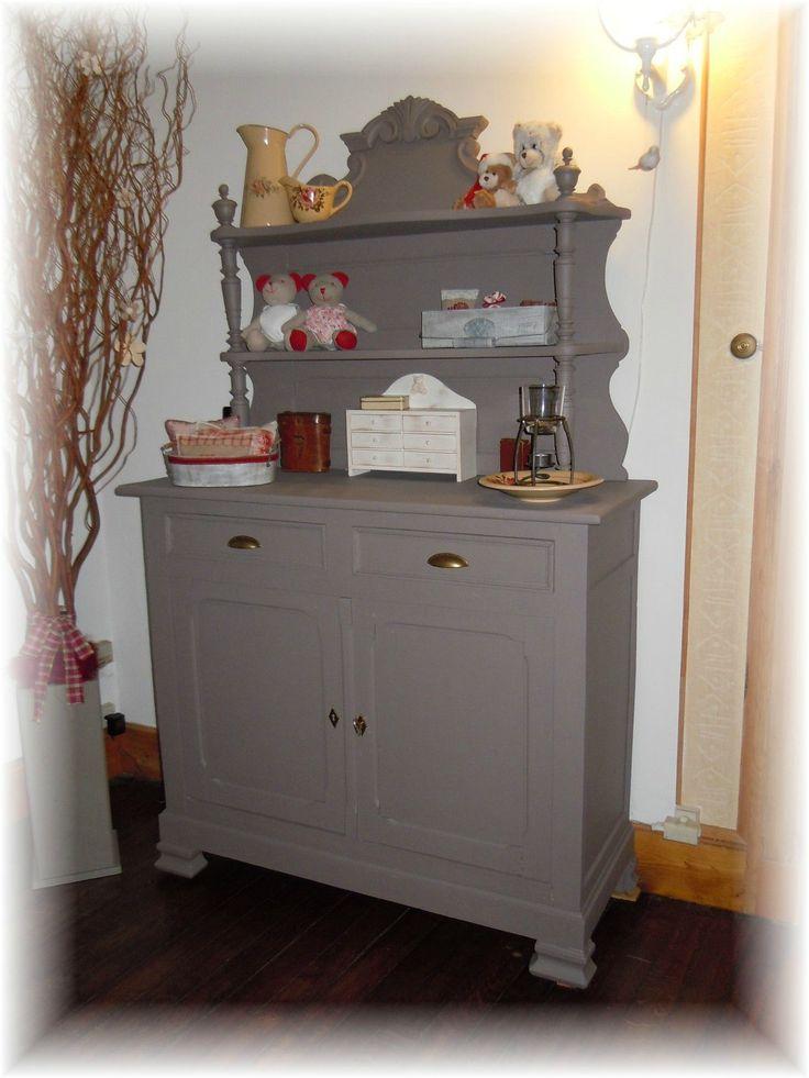 10 best meubles relookés images on Pinterest Antique furniture - comment repeindre un meuble vernis
