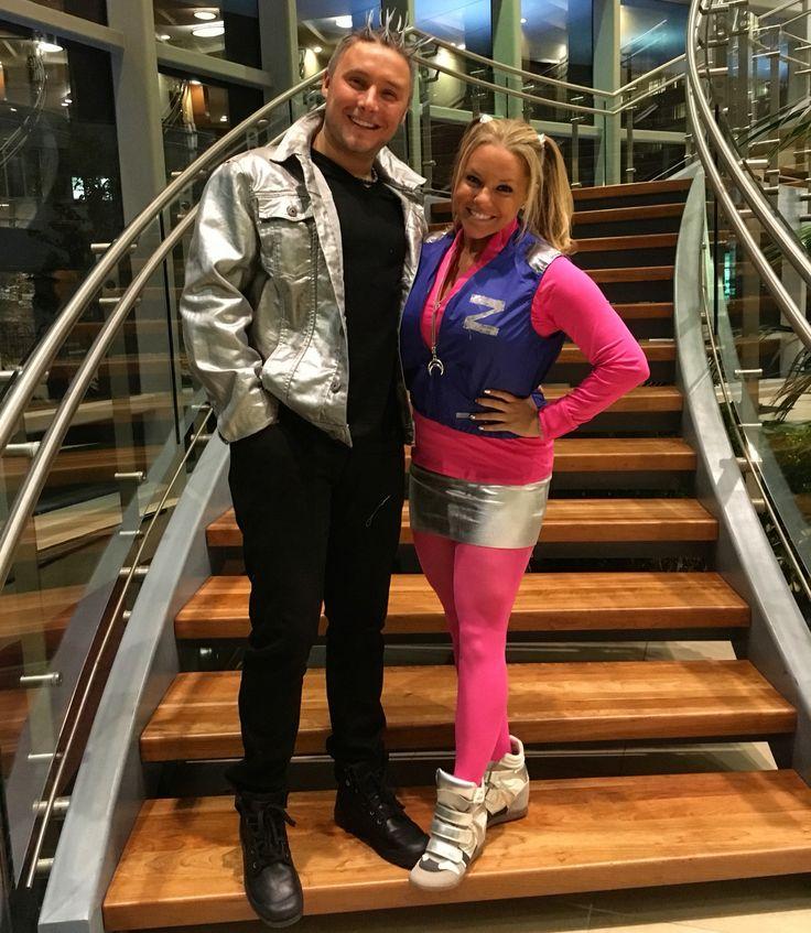 This was so much fun& everyone loved it!  Zenon & Protozoa costume fun Disney Halloween idea Couples costume