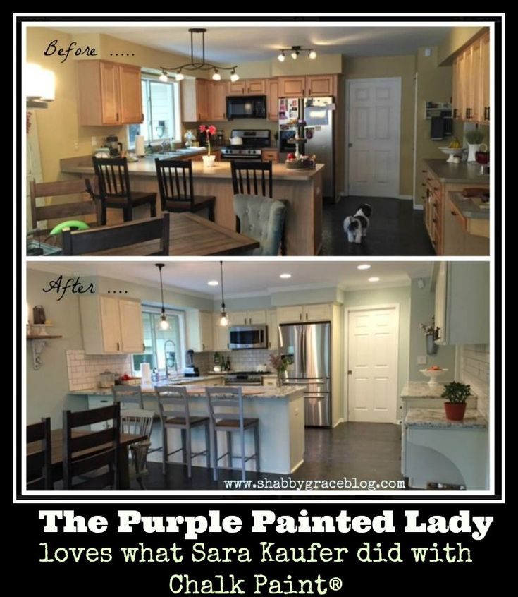 The Purple Painted Lady Sara Kaufer Old White Chalk Paint? Kitchen