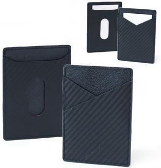 Hudson Card Case:Genuine Leather + PVC (H10.3 x L7.4cm)  S$11.00/pc