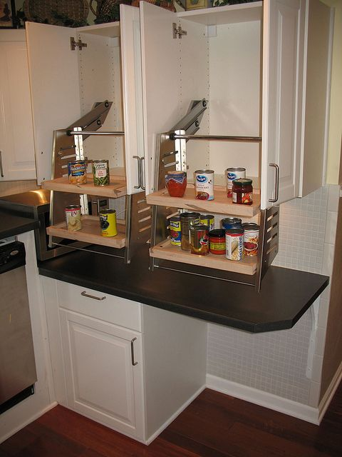 Wheelchair Accessible Kitchen Cabinets by bflosab, via Flickr.
