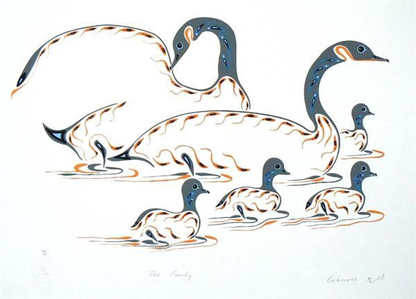 The Family by Eddy Cobiness (Ojibwe) - Contemporary Canadian Native, Inuit & Aboriginal Art - Bearclaw Gallery