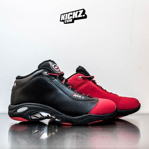and1 TAI CHI MID BlackF1 Red | And1 basketball shoes