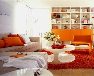 17 mejores ideas sobre salas naranja en pinterest - Paredes decoradas modernas ...