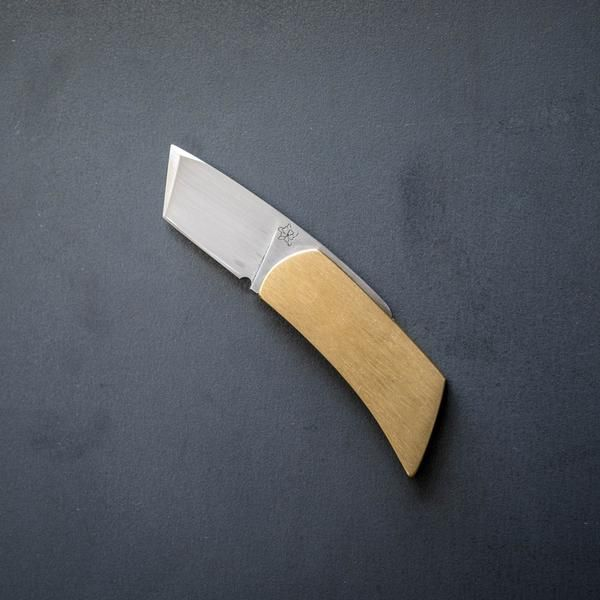 Knife - Cryptic Knives Friction Folder - Brass (Custom)