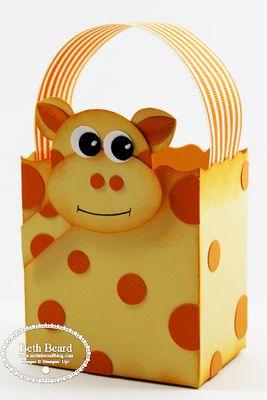 Stampin' Up!  Fancy Favor Box  Beth Beard  Giraffe