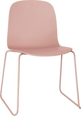 Muuto Visu chair with sledge feet in pink