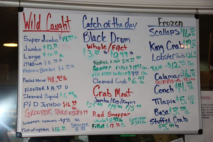 Photo of Los Tortugo's Seafood Market - Port Isabel, TX, United States. Fresh seafood menu