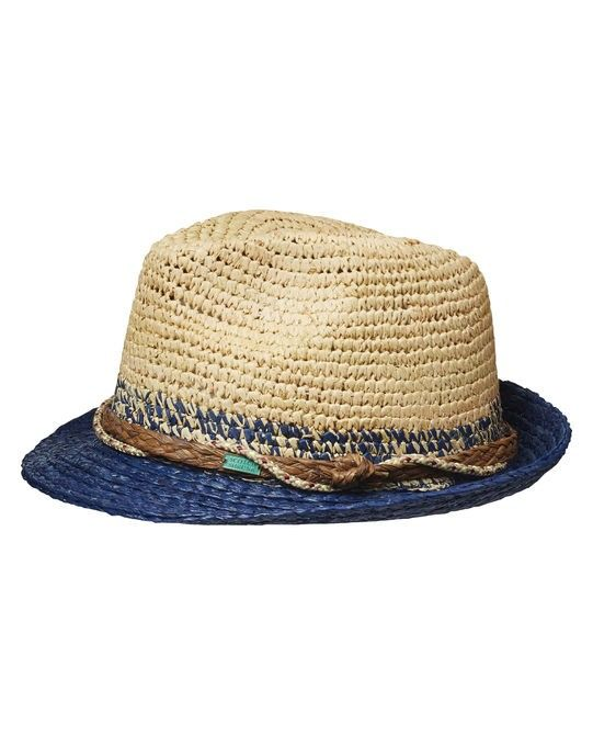Straw Hat With Blue Detailing 72502
