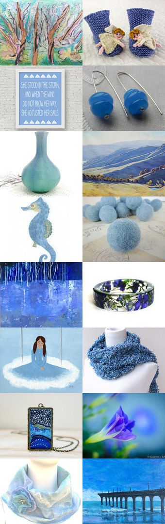 Heavenly Blues by Cathy on Etsy--Pinned+with+TreasuryPin.com