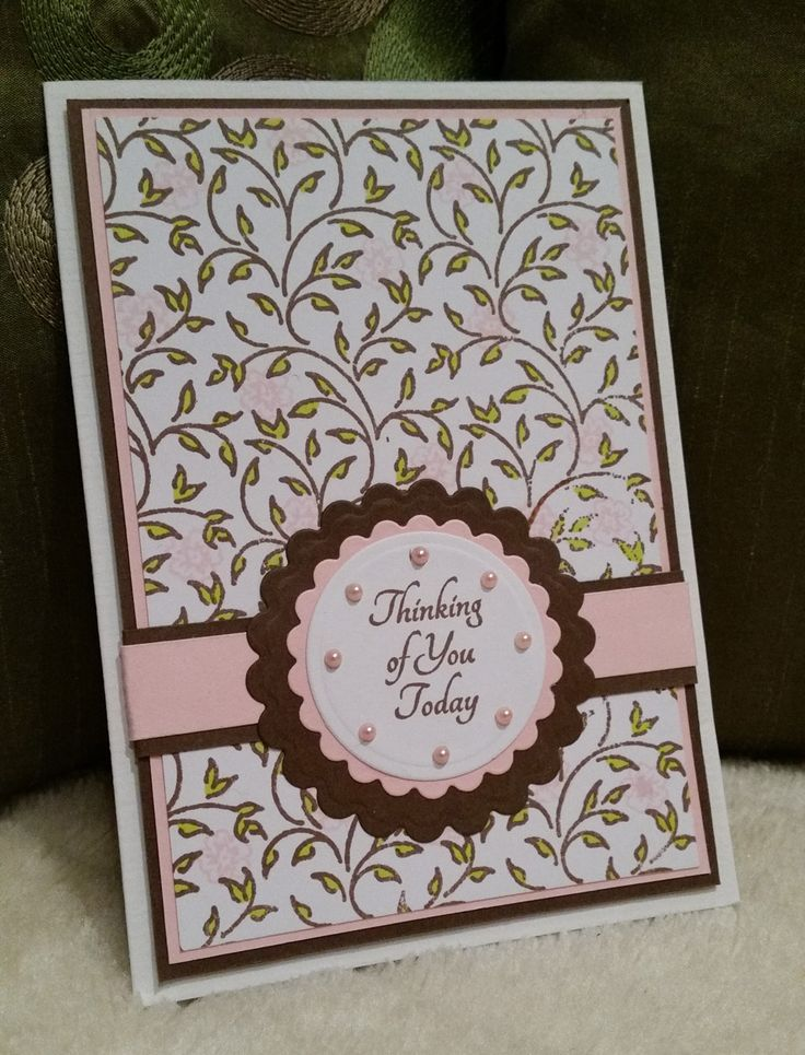 """Used: JustRite stamp """"Always and forever medallion labels"""", JustRite """"Filigree Leaves Background stamp"""", Spellbinders: Standard Circles small and Classic Scalloped Circles small."""
