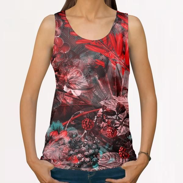 Red flowers All Over Print Tanks by jbjart