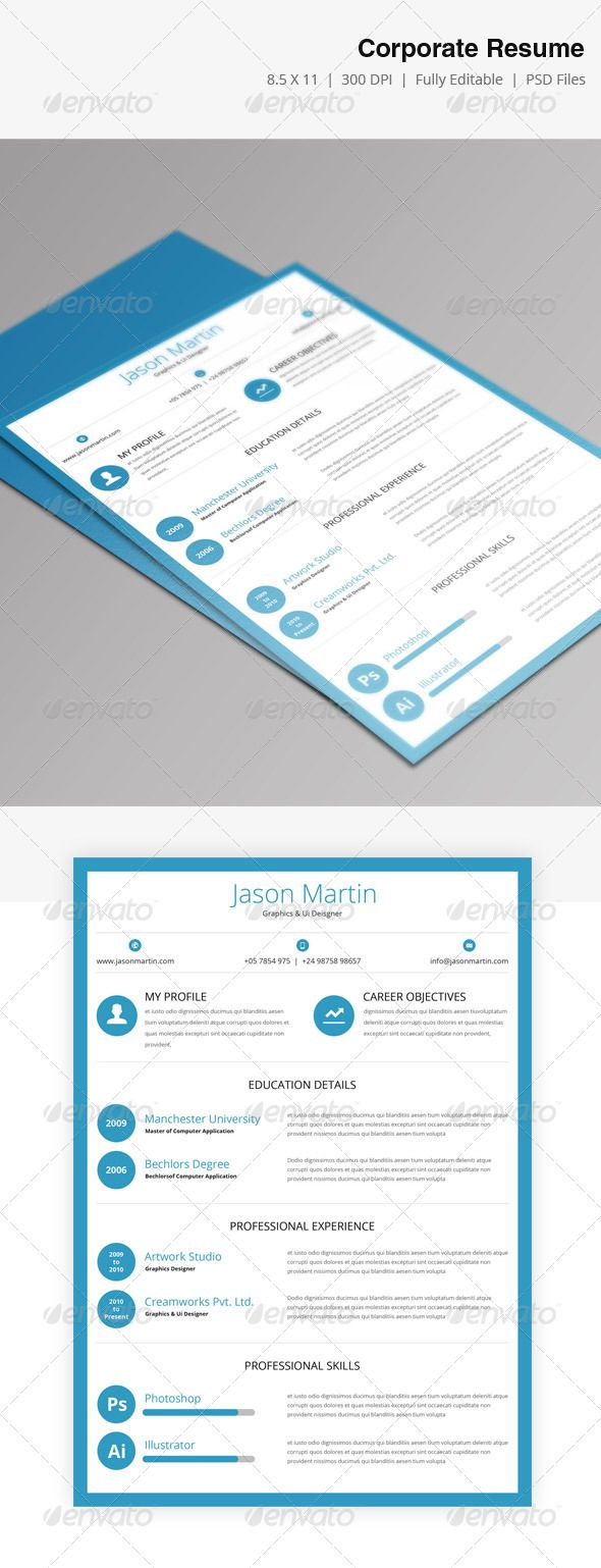 667 best ULTIMATE Resume | Design images on Pinterest | Brand ...