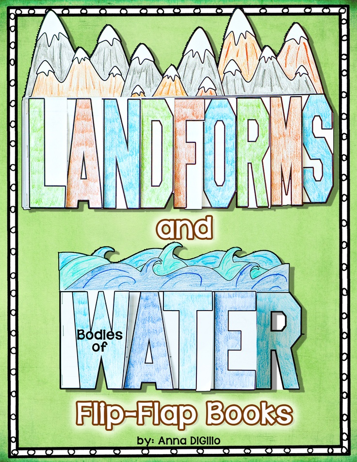 LANDFORMS = FUN!!!!! Check out my newest Flip-Flap Book on Landforms and Bodies of Water. Try something different and Interactive!$