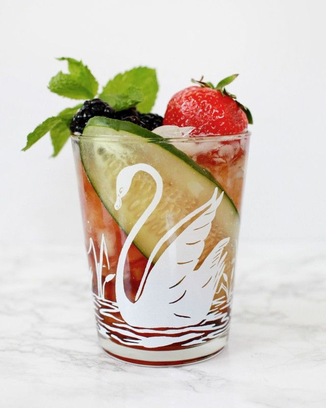 Pimm's Cup Cocktail Recipe / Liquorary for Oh So Beautiful Paper