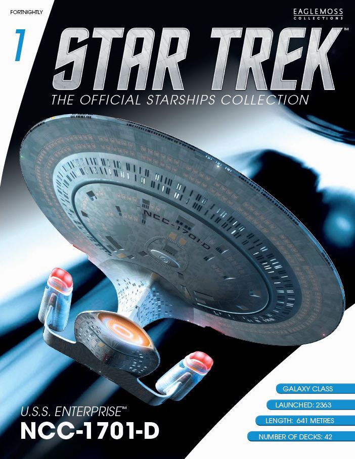Star Trek: The Official Starships Collection is a British partwork magazine which is published by Eaglemoss Collections. It is available in a number of countries worldwide and is authorized and licensed by CBS Consumer Products. Each fortnightly issue includes a hand-painted ABS and diecast metal scaled replica of a starship from the Star Trek universe. Notably, Eaglemoss is producing a sizable number of starship designs that have not been manufactured by a licensed company before.