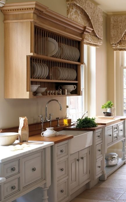 Awesome Kitchen Cabinet Design Plate Rack