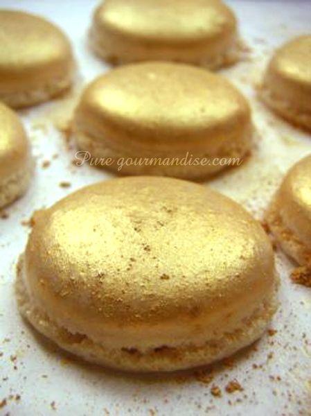 Macarons or dorés au champagne - www.puregourmandise.com