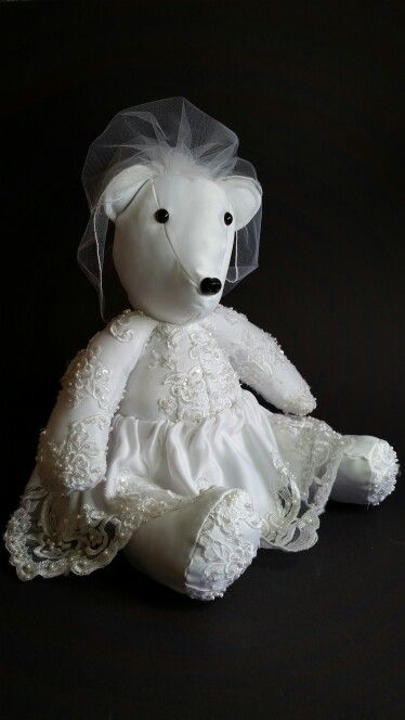 Wedding Dress Memory Bear #weddingdress #wedding #preservingmemories…