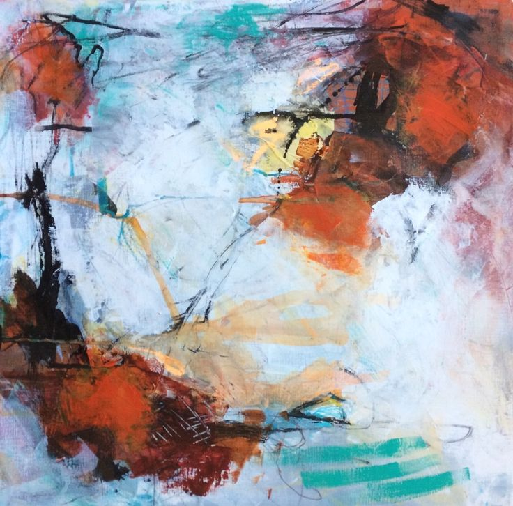 Abstract art on canvas by @artwillmakeyouhappy