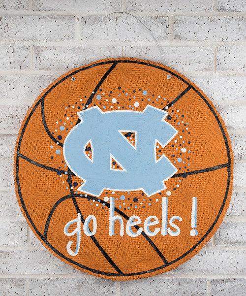 North Carolina Basketball Burlap Wall Hanging
