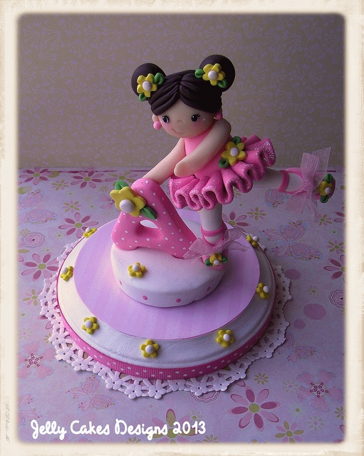 *POLYMER CLAY ~ Birthday Ballerina cake topper by Jelly Lane Designs, via Flickr