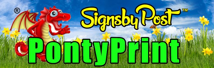 Signs, Banners, Roller Banners, Posters, Photo Canvasses, Vinyl letters and Numbers. Based in Cardiff UK