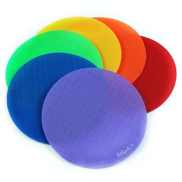 This 30 SitSpots Starter Pack is perfect for rainbow rugs and works on carpets. Made from velcro, use as markers, place sits, carpet dots, seating spots/sit ons