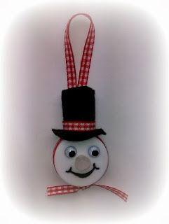 Een sneeuwpop lichtje....tutorial!!