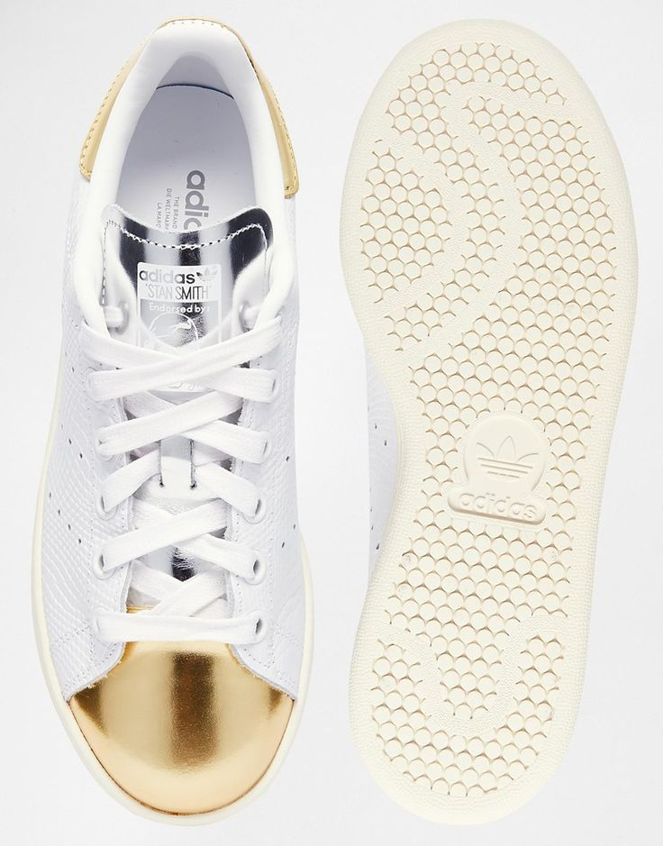 online retailer a9b50 b2039 The Pinterest 100  Style  Game-changing throwback sneaks like the Stan  Smith gold toe by Adidas are all the rage.   Shoes   Stan smith white, ...