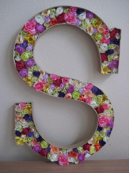 DIY block letter for little girls room
