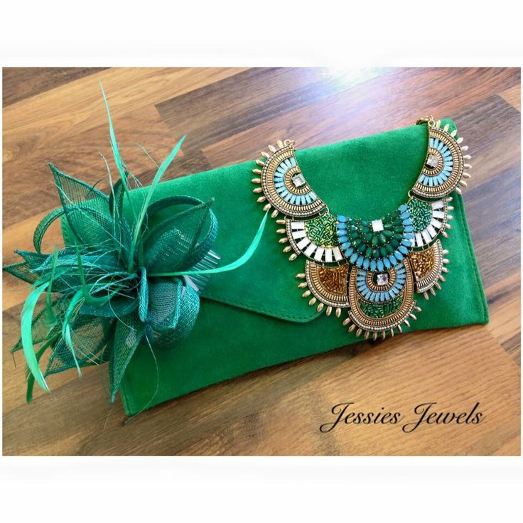 Gorgeous jade green accessories