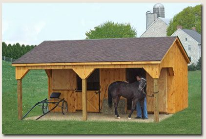 Small pole building plans small horse barn plans free for Mini barn plans