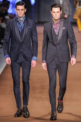 Etro Fall 2014 Menswear Collection Slideshow on Style.com