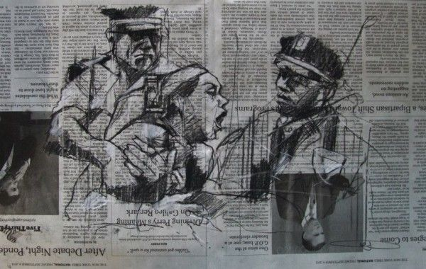"""""""Occupy Wall Street (Bologna's enthusiasm)"""" by Guy Denning."""