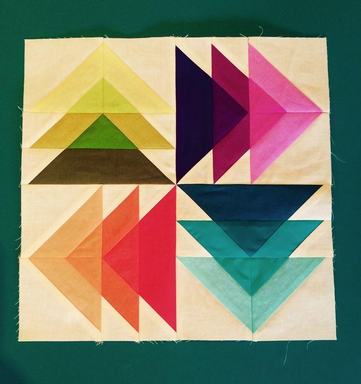"Fantastic ""Spinning Transparent Geese"" block by Jackie Nixon-Fulton."