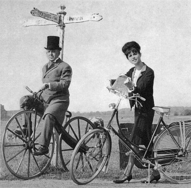 Hobbyhorse and 1960s Gazelle bike by letterlust,