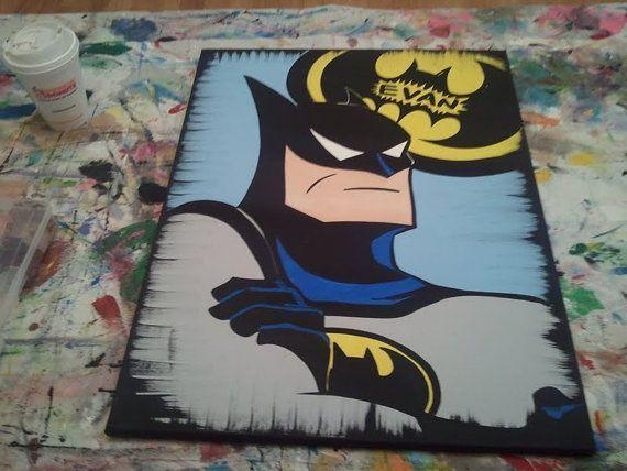 Batman Canvas Pictures DC Comics Cartoon Bats Gotham Wall Art Large Poster