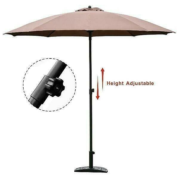 large patio umbrella 8 2ft adjustable