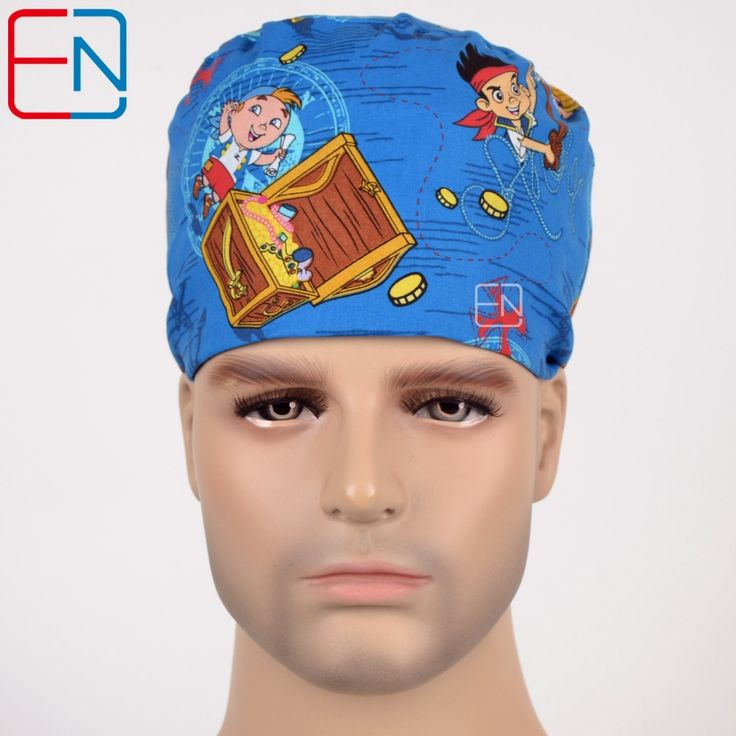 Hennar surgical caps for men  MEDICAL CAPS  in blue
