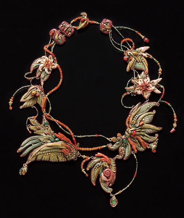 Polymer Necklace by Christi Friesen.