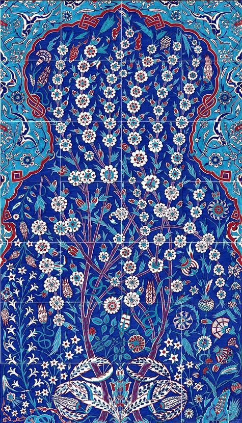 Iznik Panels Manufacturer, We ship Iznik Panels to Worldwide. Custom design Iznik Panels are available. Send us your own design and We will make it in Panel