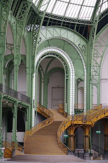 Inside the Grand Palais, Paris, France
