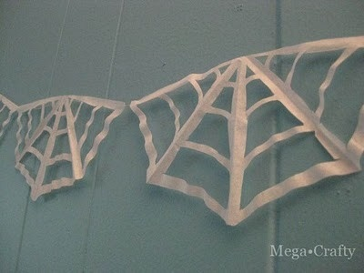 spiderwebs with coffee filters