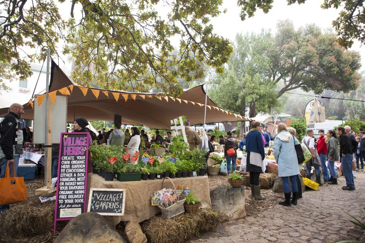 Locals & visitors alike stock up on just-picked produce at Oranjezicht City Farm, Cape Town.  #GourmetAfrica #Food #SouthAfrica #Africa #Cape #CapeTown #Gourmet #travel #foodie #Market #Organic