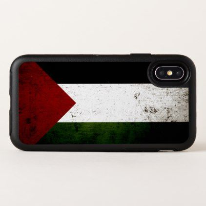 Black Grunge Palestine Flag OtterBox Symmetry iPhone X Case - wood gifts ideas diy cyo natural