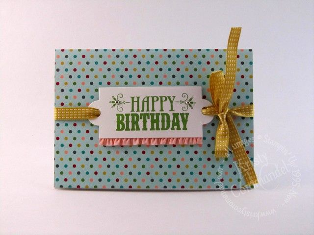 Gift Certificate Holder - Created by Kristy Coromandel.  List of products, dimensions and instructions can be found on the blog http://www.kristycoromandel.com/birthday-basics-gift-certificate-holder/